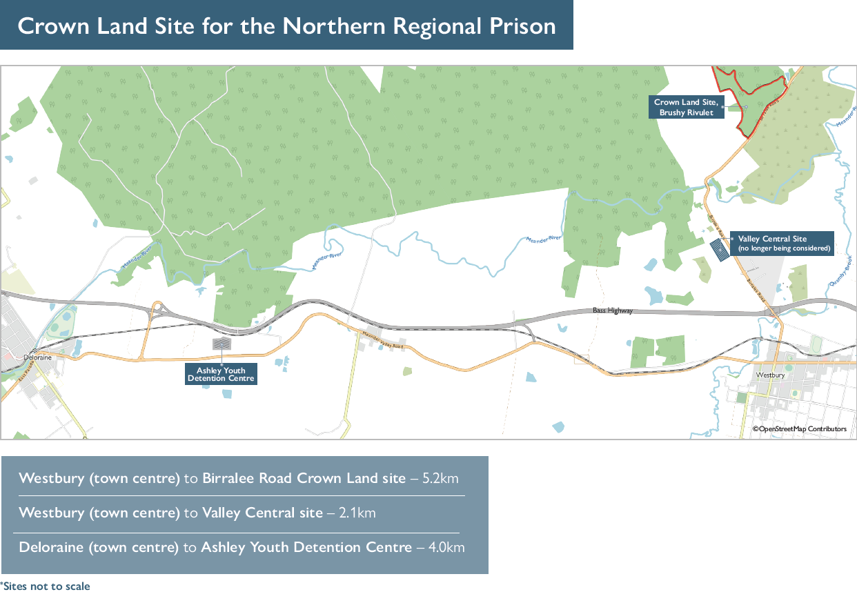 Preferred site of the new Northern Regional Prison