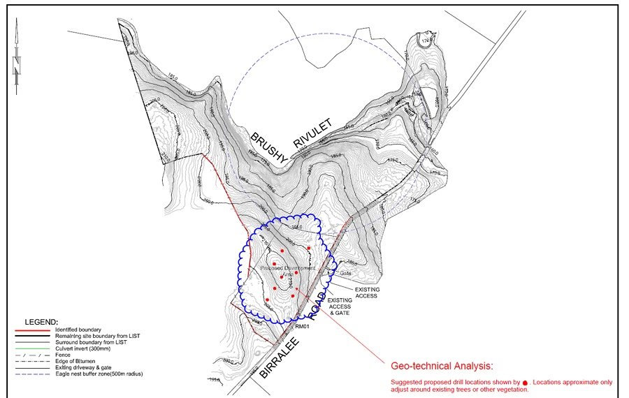 Surveyors map showing site of proposed Northern Regional Prison